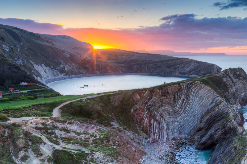 Lulworth Cove Sunrise Lulworth Cove Sunrise Photograph by Tim Jackson