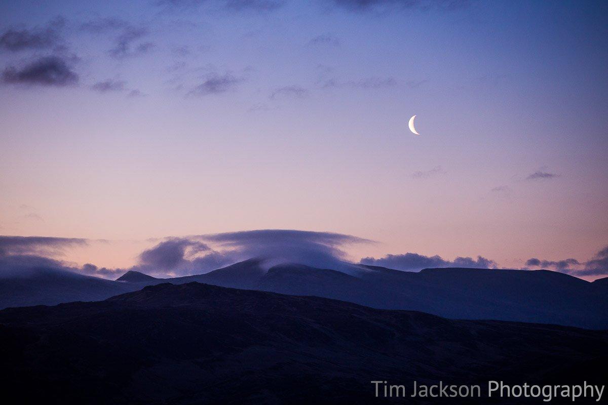 Moonrise Lake District Photograph by Tim Jackson