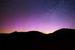 Lake District Northern Lights Glow Over Lake District Photograph by Tim Jackson