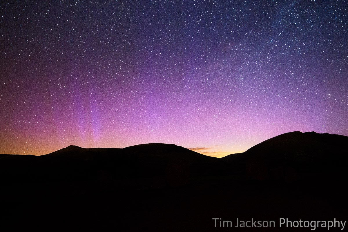 Northern Lights Glow Over Lake District