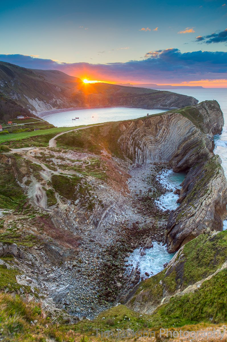 Stair Hole Sunrise Stair Hole Sunrise Photograph by Tim Jackson