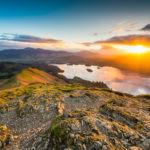 Trip to the Lake District that finished with seeing the Northern Lights Sunrise Catbells Photograph by Tim Jackson