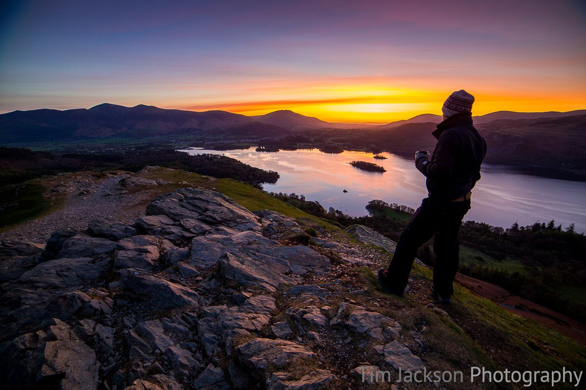 Trip to the Lake District that finished with seeing the Northern Lights Tim Jackson Lake District Sunrise Photograph by Tim Jackson