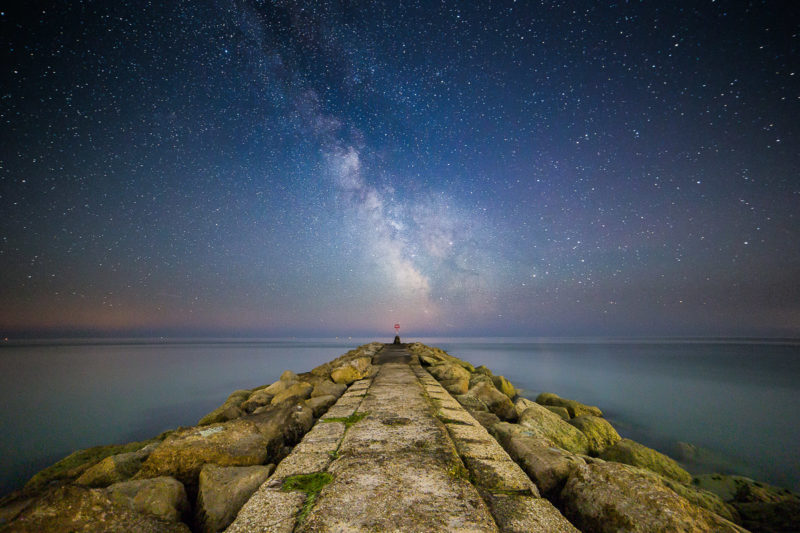 Milky Way Hengistbury Head Milky Way Hengistbury Head Photograph by Tim Jackson