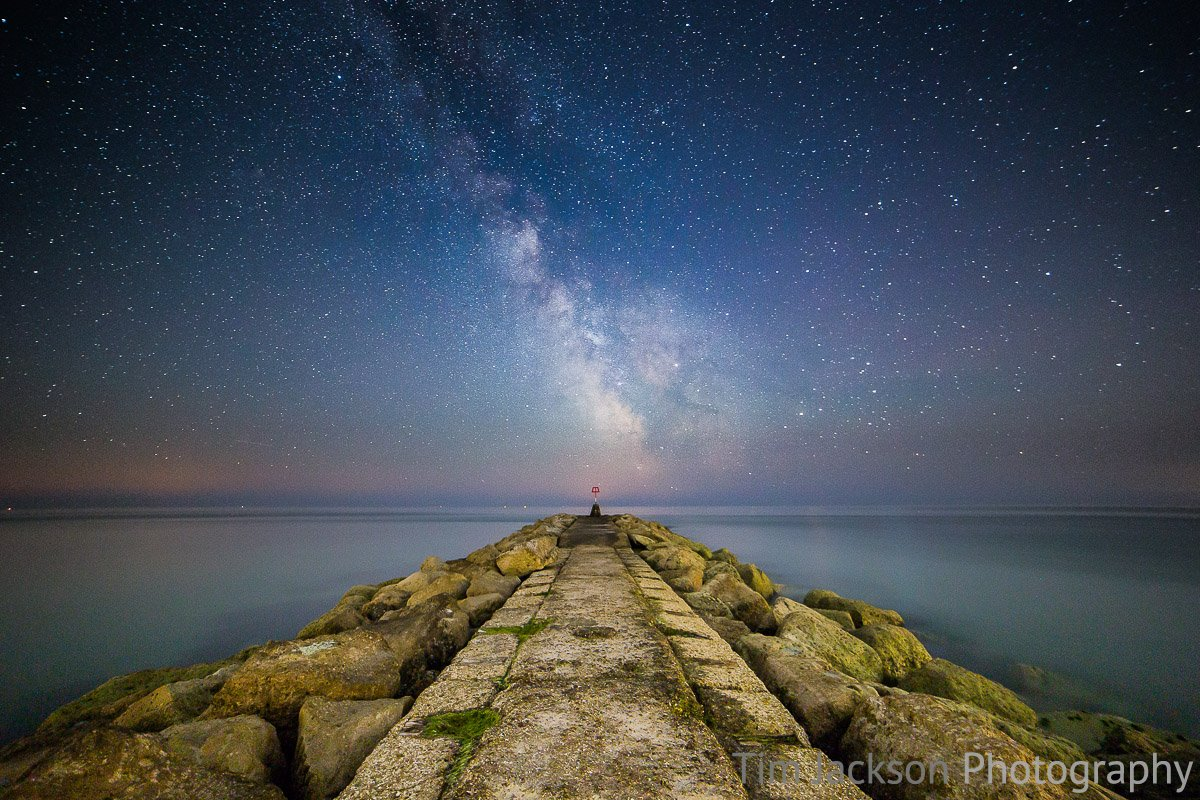 Milky Way Hengistbury Head Photograph by Tim Jackson