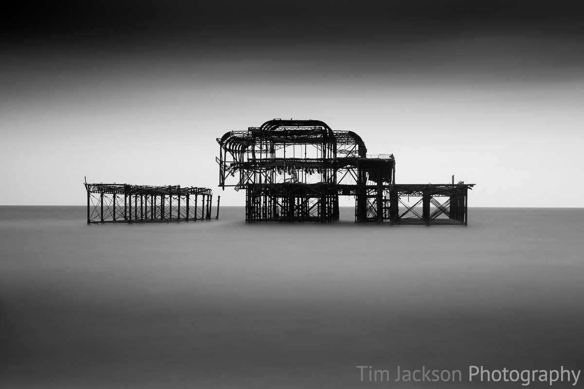 Brighton West Pier Remains Photograph by Tim Jackson