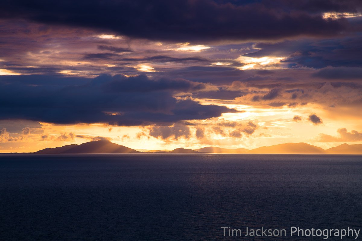 Isle of Skye Bathed in Gold Photograph by Tim Jackson