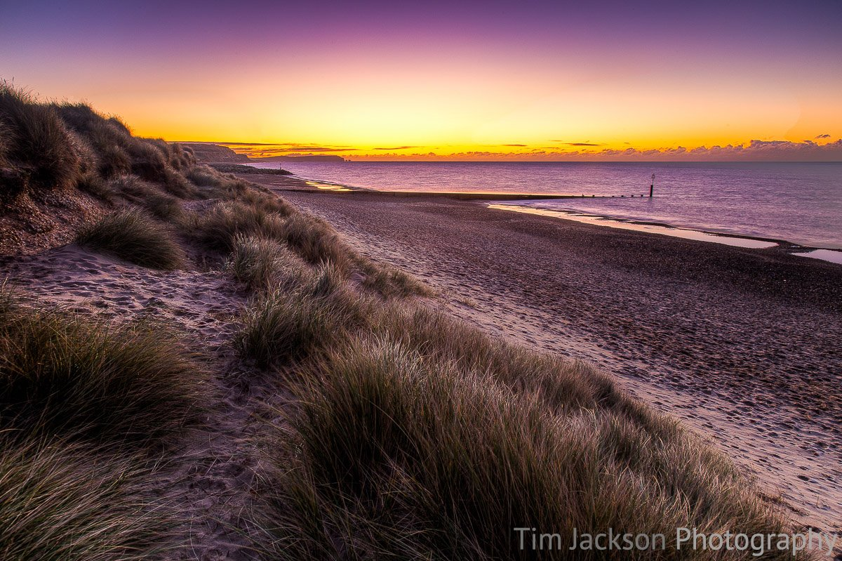 Hengistbury Head Sunrise Photograph by Tim Jackson