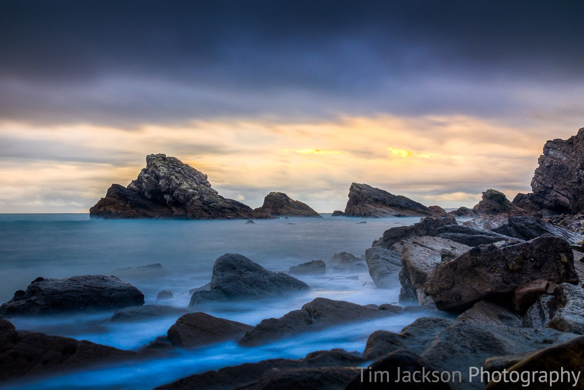 Winter Sunset Mupe Bay Photograph by Tim Jackson