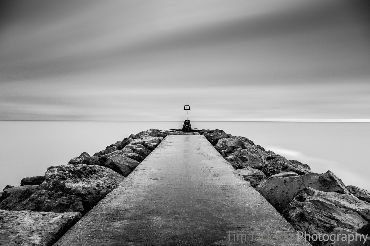 Hengistbury Head Long Exposure Black and White