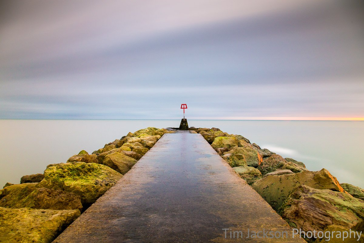 Hengistbury Head Long Exposure Photograph by Tim Jackson