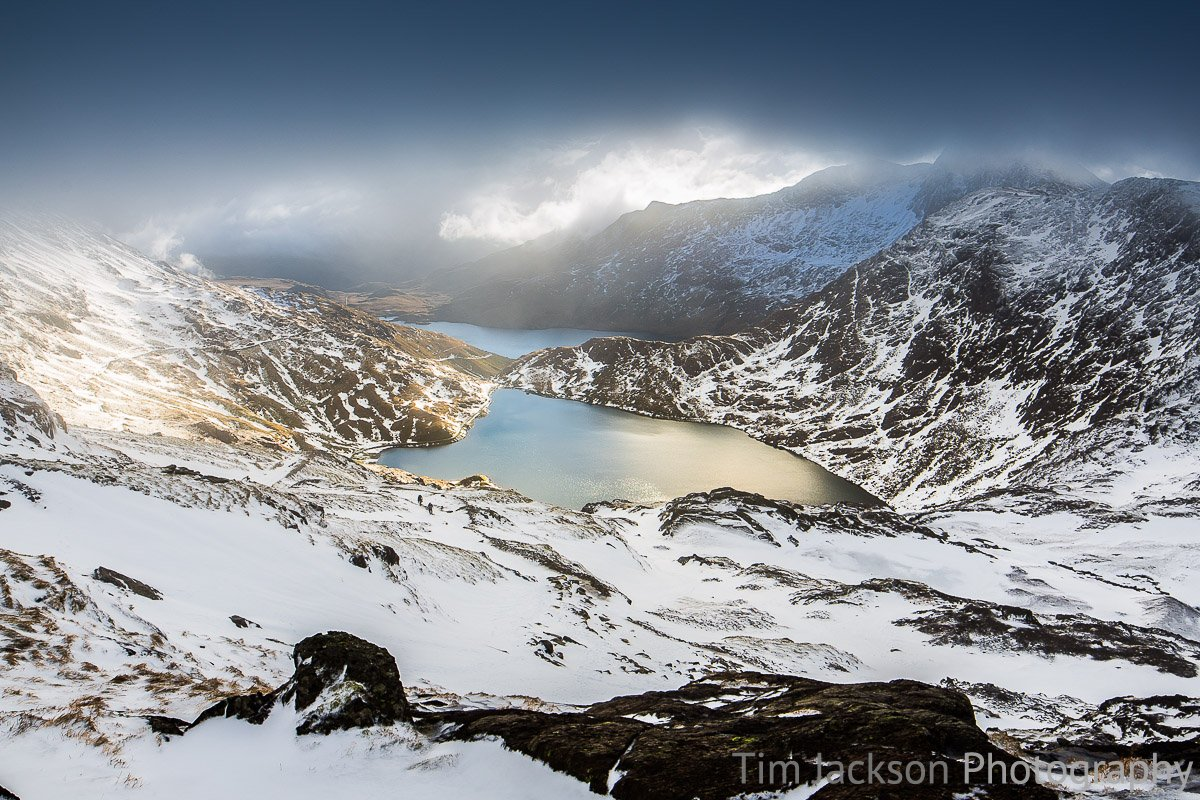 Glaslyn in Winter Photograph by Tim Jackson
