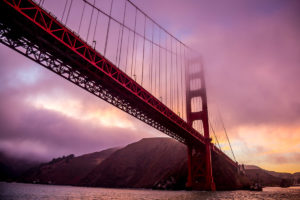US West Coast Golden Gate Bridge Sunset Photograph by Tim Jackson