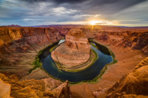 US West Coast Horseshoe Bend Sunset Photograph by Tim Jackson