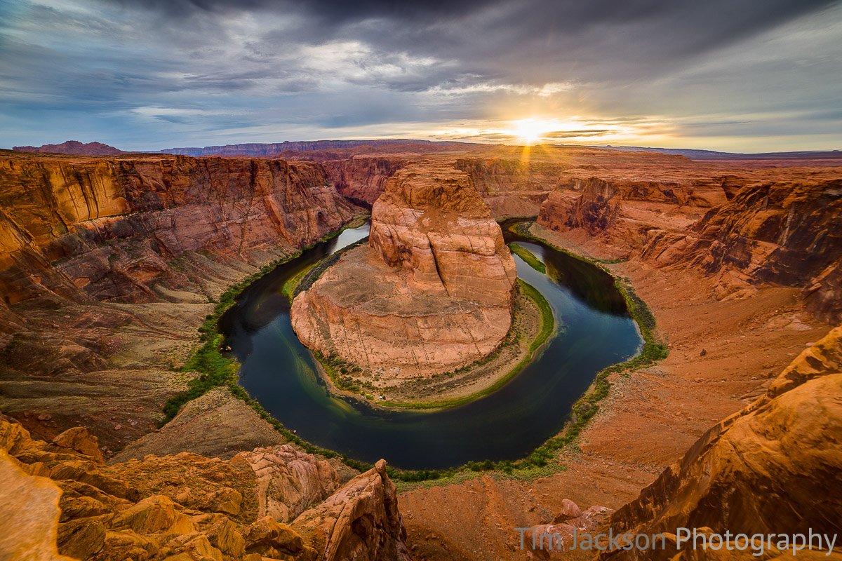 Horseshoe Bend Sunset Horseshoe Bend Sunset Photograph by Tim Jackson