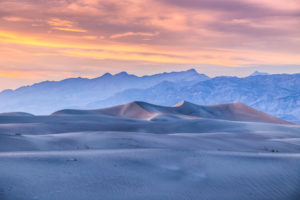 US West Coast Mesquite Flat Sand Dunes Sunset Photograph by Tim Jackson