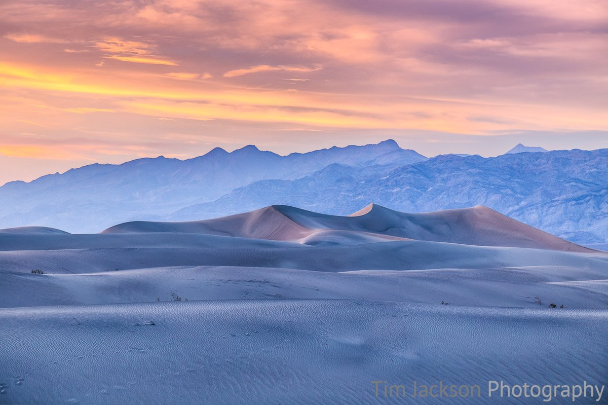 Mesquite Flat Sand Dunes Sunset Photograph by Tim Jackson