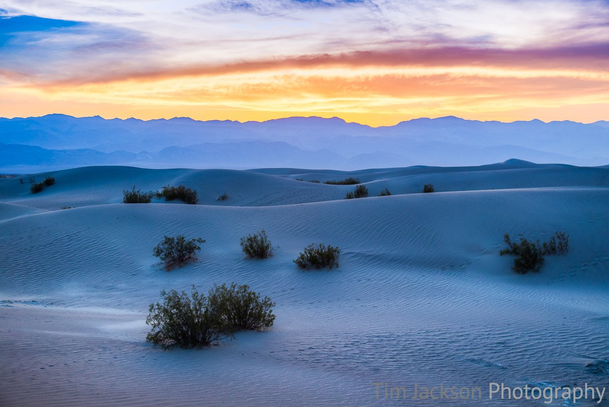 Death Valley Sunset Death Valley Sunset Photograph by Tim Jackson