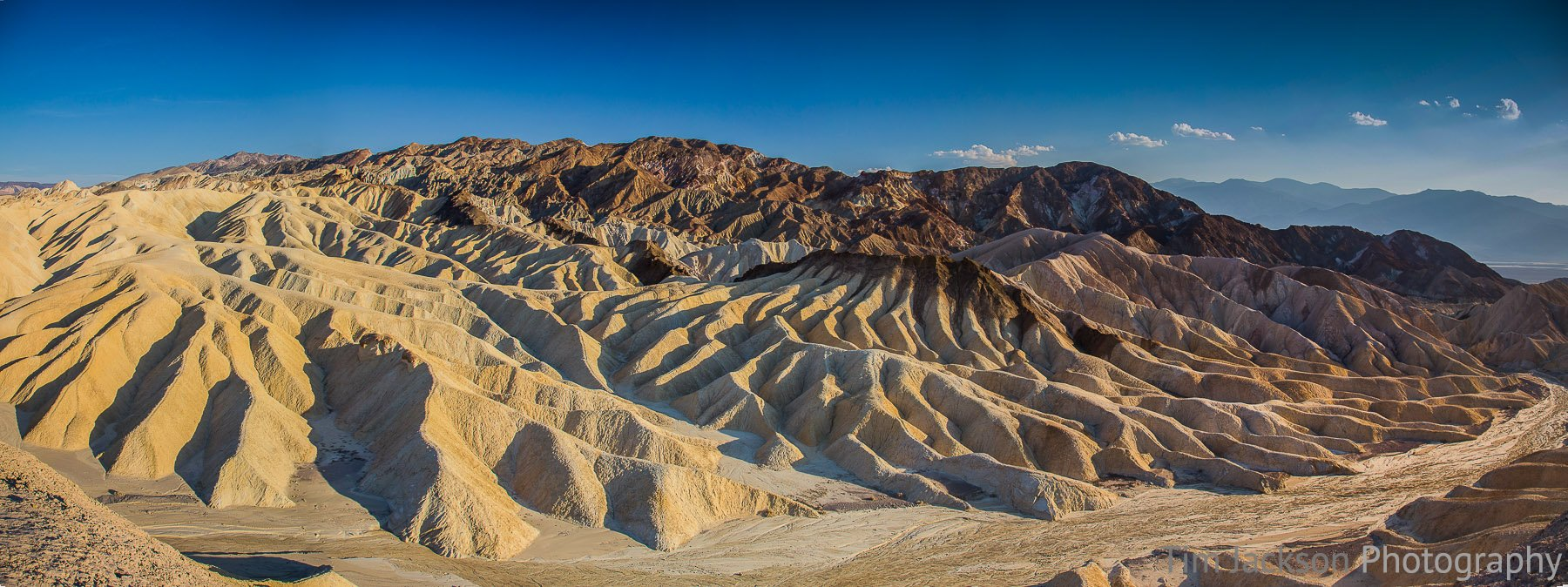 Zabriskie Point Death Valley Panorama Photograph by Tim Jackson