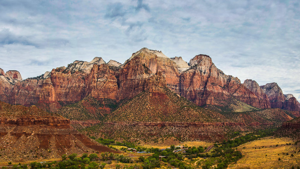 Capturing the landscape in a panoramic. Zion National Park Panorama Photograph by Tim Jackson
