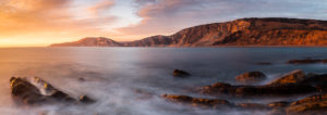 Jurassic Coast Worbarrow Bay Sunset Panorama Photograph by Tim Jackson