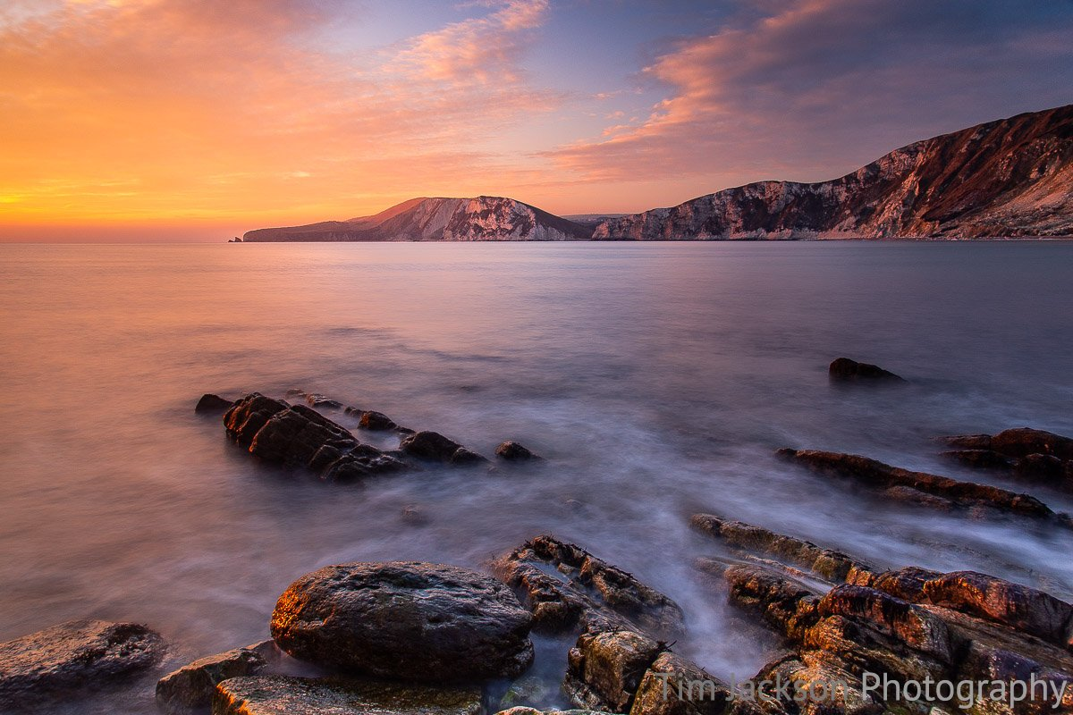 Worbarrow Bay Sunset Worbarrow Bay Sunset Photograph by Tim Jackson
