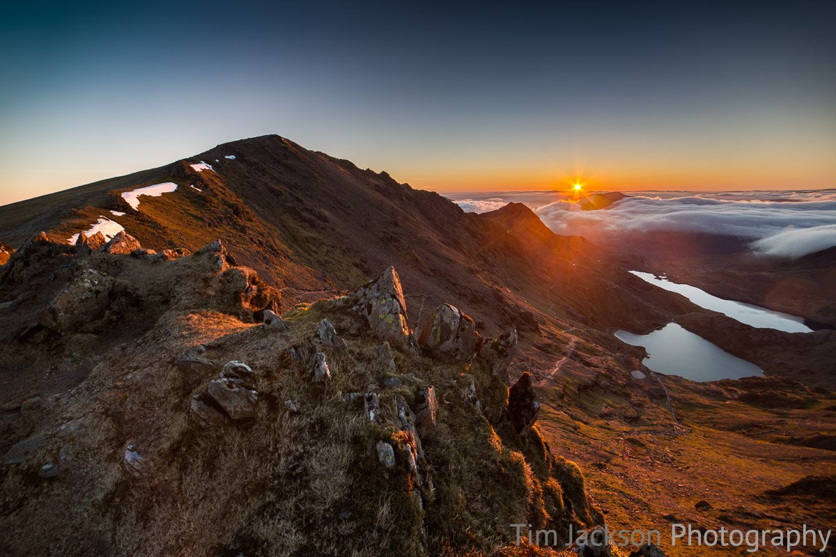 Crib Goch Sunrise Crib Goch Sunrise Photograph by Tim Jackson