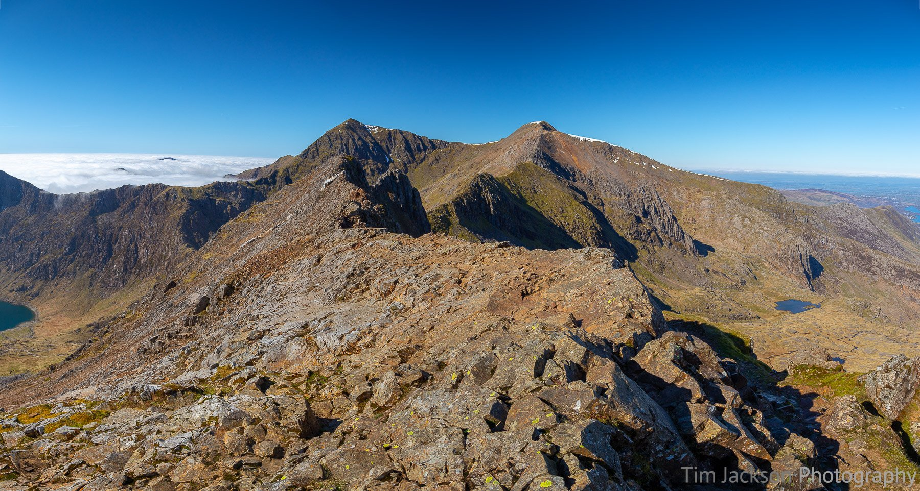 Crib Goch to Snowdon Photograph by Tim Jackson