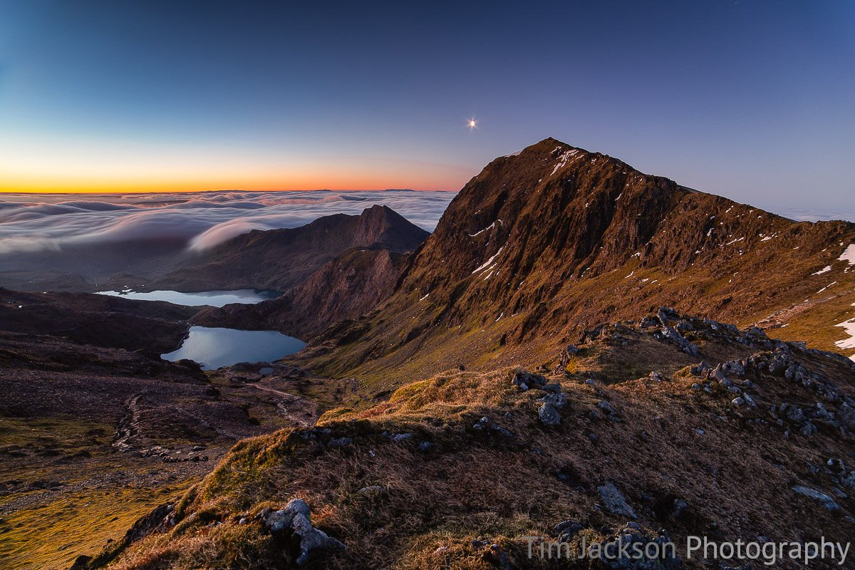 Snowdon Dawn Snowdon Dawn Photograph by Tim Jackson