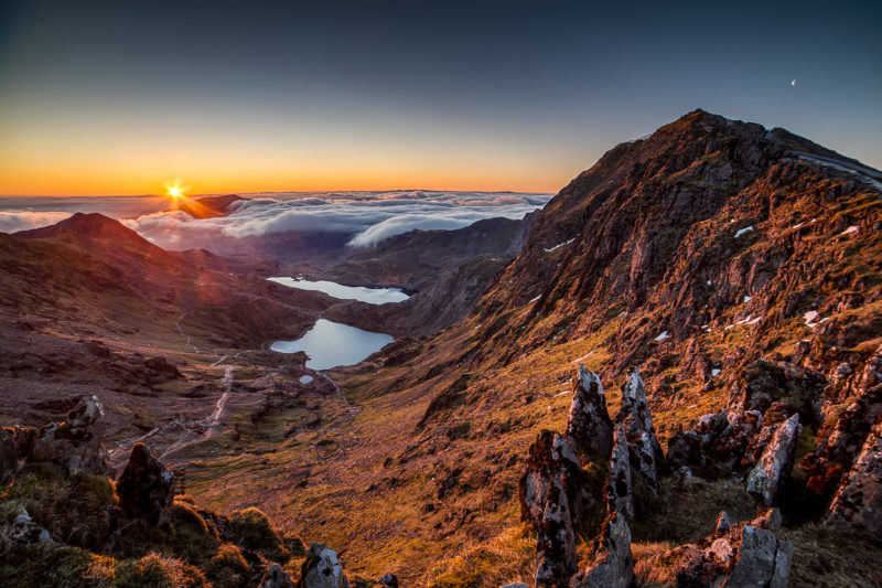 Snowdon Sunrise and Cloud Inversion Snowdon Sunrise and Cloud Inversion Photograph by Tim Jackson