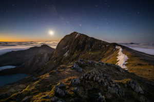 Snowdon by Moonlight