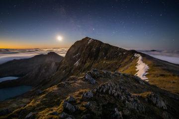 Snowdon by Moonlight