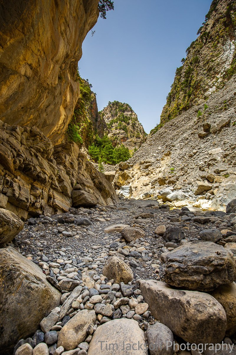 Hiking Samaria Gorge Hiking Samaria Gorge Photograph by Tim Jackson