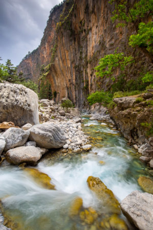 Latest Work Samaria Gorge River Crossing Photograph by Tim Jackson
