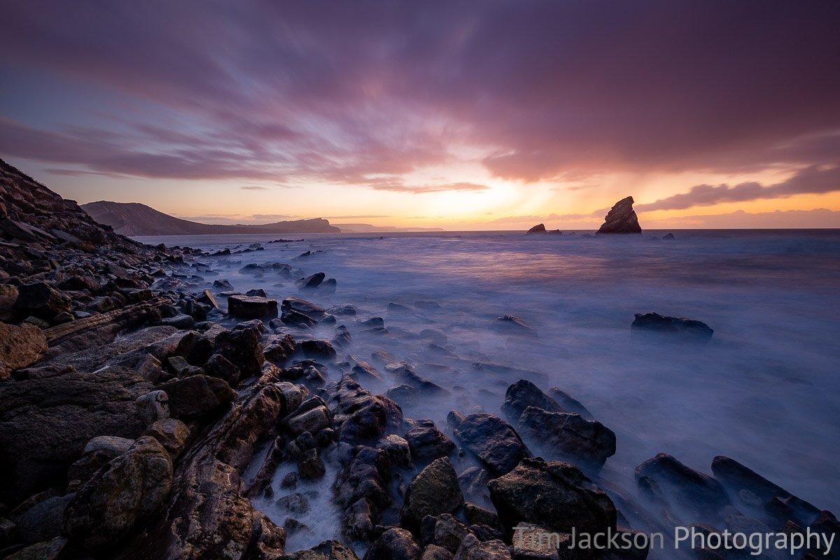 Mupe Bay Rain and Sunrise Mupe Bay Rain and Sunrise Photograph by Tim Jackson